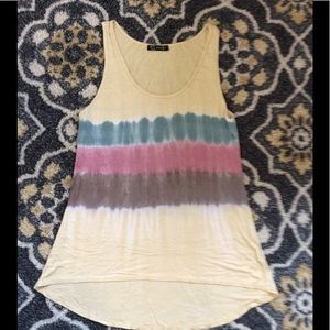 Urban X Tie Dye Striped Tank!